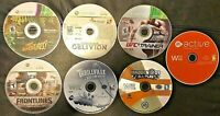 Lot of 7 XBOX 360 & Wii Games Scratched & Untested, Oblivion, Frontlines of War