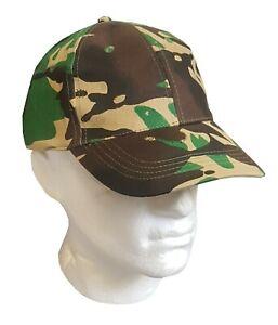 DPM Camouflage cap baseball style six panel cap army dpm camouflage