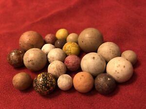 "Top Collectible Antique Marble Set Striped China YELLOWS Bennington 13/32-15/16"""