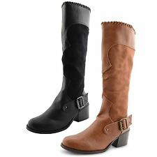 Zip Synthetic Leather Knee High Boots Casual Shoes for Women