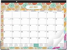 2021 2022 Desk Calendar 18 Months Desk Calendar Pad 22 X 17 Desk Pad