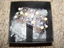 NWT J. Crew Crystal and Pearl Studded Cuff Bracelet NWT F0857 Yucca