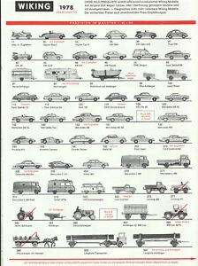 Katalog Wiking 1978 Modellautos in 1:87