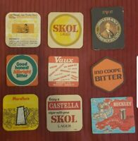 Set Of 9 Vintage 60s/70s Bar Coasters