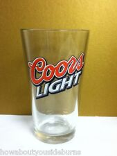 Coors Light beer glass bar glasses 1 Golden Colorado Coor's brewery brand KA4