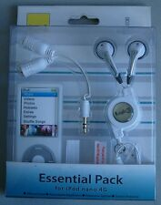 Logic3 Pack de esenciales-  Auriculares + Funda Protectora para el iPod nano 4G