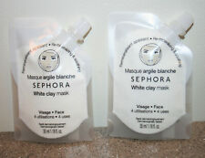 2 x Sephora Collection Clay Face Mask WHITE 1.18 oz. / 35mL each remineralizing