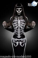 Skeleton Lady  Kostüm  Halloween Fasching Karneval Gr.34-36-38