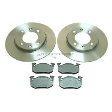 PEUGEOT 106 + 206 + 306 REAR 2 BRAKE DISCS AND PADS BRAND NEW SET KIT
