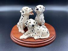 More details for disney border fine arts, 3 dalmatians code bo107 1995, rare. eegg handcrafted