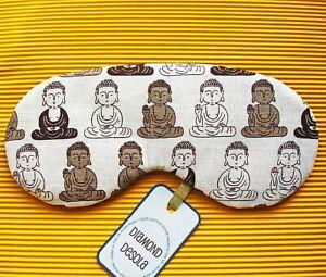 Eye Sleep Mask Buddha Cotton Travel Meditation Zen Gift Blackout Relax UK Made