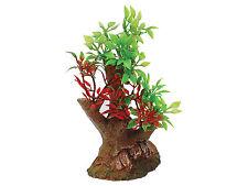 Bonsai Árbol sobre base de roca Vivero, Ornamento del acuario peces tanque decoración