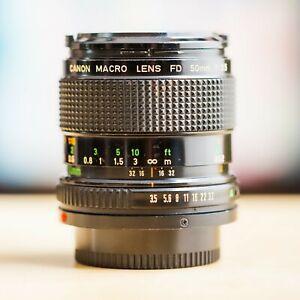 Canon FD Macro 50mm f/3.5 nFD New FD 1:3.5 !! Super Offre !!