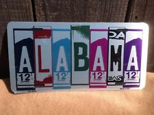Alabama License Plate Art Wholesale Novelty Bar Wall Decor