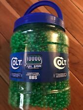 COLT 6mm .12g Airsoft BBs 10000 Count Round Competition Grade Green New 10K