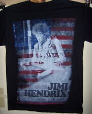 Jimi Hendrix Concert Shot Flag Red White & Blue Pre Worn T-Shirt Size Small Cool