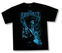 Jimi Hendrix Blue Bolts Black T Shirt New Official Merch