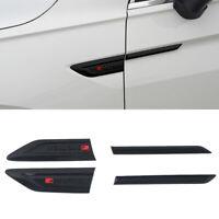 Black Side Door Air Vent Fender Cover Trim with Letter For VW Tiguan 2017-2021