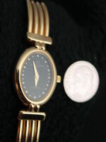 NEW Vintage French Michel Herbelin Ladies Corynthe Gold Bangle Watch