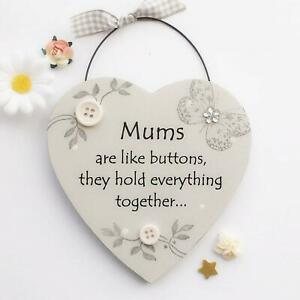 Mums are like buttons - Wooden Plaque Mother's Day Gift