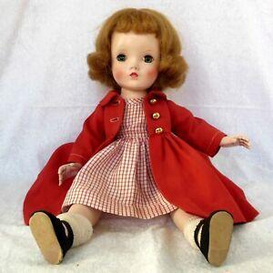 """Vintage Madame Alexander 14"""" Binnie Walker hard plastic doll in original outfit"""