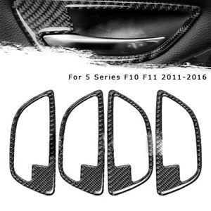 Carbon Fiber Door Handle Frame Türgriff Trim für BMW 5 Series F10 F11 11-16