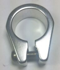 """bicycle frame seat clamp 25.4mm aluminum seatclamp 1"""" inch Silver Frame Collar"""