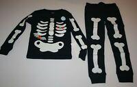 NEW Carter's 2 Piece PJs Halloween Glow in Dark Skeleton Boys 2T 3T 4 12 14 Year
