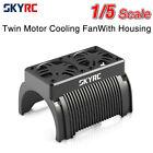 SKYRC Twin Motor Cooling Fan+Housing Motor Heatsink for 1/5 Traxxas Arrma RC Car