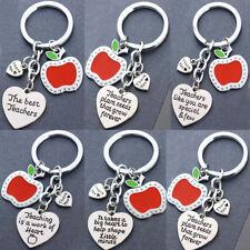 Thank You Gift For Teacher Apple Keyring Heart Key Ring Teachers Gifts Keychain