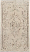 "Hand-knotted Turkish Carpet 5'4"" x 9'0"" Antalya Vintage Traditional Wool Rug"