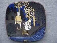 Vintage Original Decorative Wall Plaques Scandinavian Art Pottery