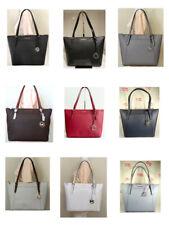 Michael Kors Women Ciara Top Zip Signature PVC Leather Large Tote Shoulder Bag