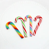 1PC DIY Christmas Soft Clay Candy Cane Xmas Tree Hanging Decor Ornaments Gifts