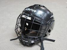 Jofa 395 JR Junior Black Hockey Helmet W/Jofa 386 JR Face Mask 6 1/2-7 1/4