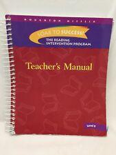 Soar to Success! The Reading Intervention Program (Teacher's Manual Level 8)