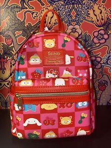 Loungefly Hello Kitty 60th Anniversary AOP Mini Backpack FYE Exclusive