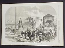 Illustrated London News Single-Page A2#91 Sep. 1864 Prince Consort Statue-Perth