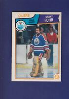 Grant Fuhr HOF 1983-84 O-PEE-CHEE OPC Hockey #27 (NM) Edmonton Oilers