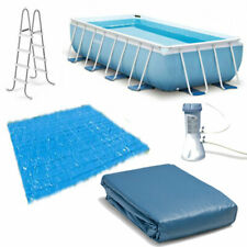 "16' x 8' x 42"" Intex Rectangular Prism Frame Aboveground Swimming Pool 28317Eh"