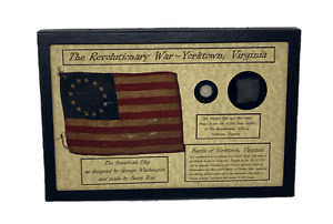 Revolutionary War Bullet & Flint from Yorktown, VA in 8x12 Display Case with COA