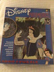 Disney Photomosaics Jigsaw Puzzle Snow White 1000 PCS Sealed In Original Box
