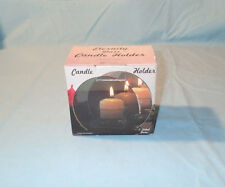 Eternity 2 Sided Glass Candle Holder New in Box
