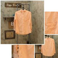 eagle Dry Goods Womens Button Up Long Sleeve Blouse Shirt Top Light Orange S