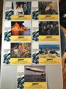 7 Original Lobby Cards 11x14: Zeppelin (1971) Michael York, Elke Sommer