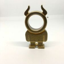 Creative Solid Brass Humanoid Horn Keychain Partner Self-Defense Key ring