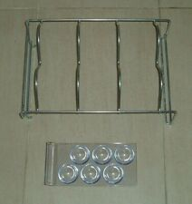 FRIDGE ITEMS x 2 - METAL BOTTLE RACK + PLASTIC EGG RACK
