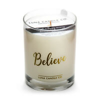 Luna Natural Soy Pine Balsam Jar Candle, Fresh & Sweet Aromatherapy- Believe