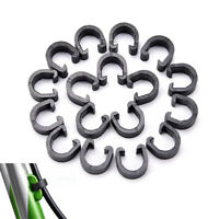 20pcs Bicycle Cycle Plastic C-Clips Buckle Hose Brake Gear Cable Housing Kx BY