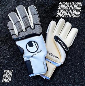 Uhlsport Absolutgrip HN #300 New Goalkeeper Gloves Sizes 10-9